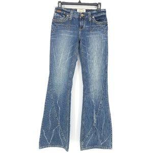 London Jean High-Rise Flare Leg Jeans